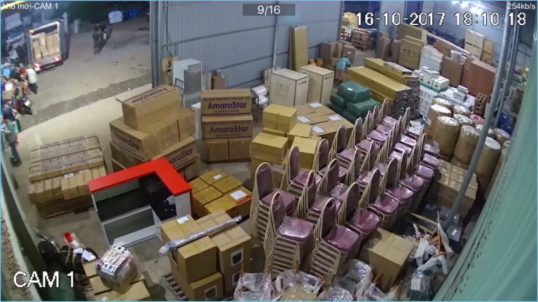 Hàng hóa vận chuyển từ kho Trọng Tấn đi Campuchia