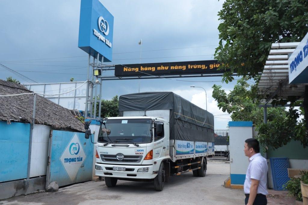 Chành xe ghép hàng đi Hà Nội