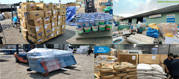 đa dạng các mặt hàng vận chuyển tại chành