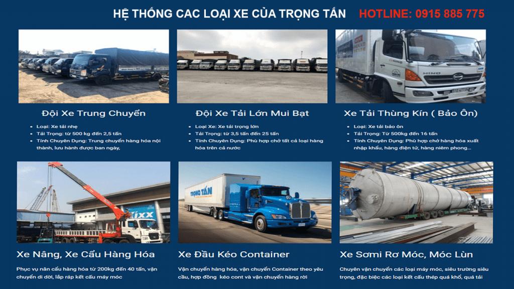 Chành xe ghép hàng Sài Gòn Quảng Nam với đa dạng các loại xe