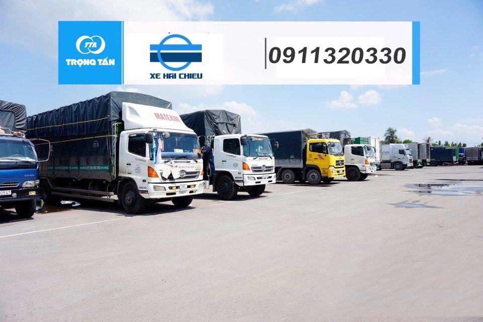 Đội xe chuyển hàng từ Buôn Mê Thuột đi Đà Nẵng