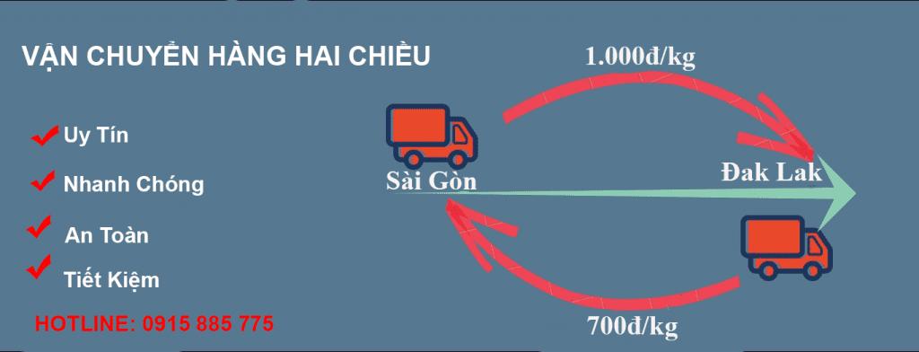 Vận chuyển hai chiều Sài Gòn đi Đak Lak