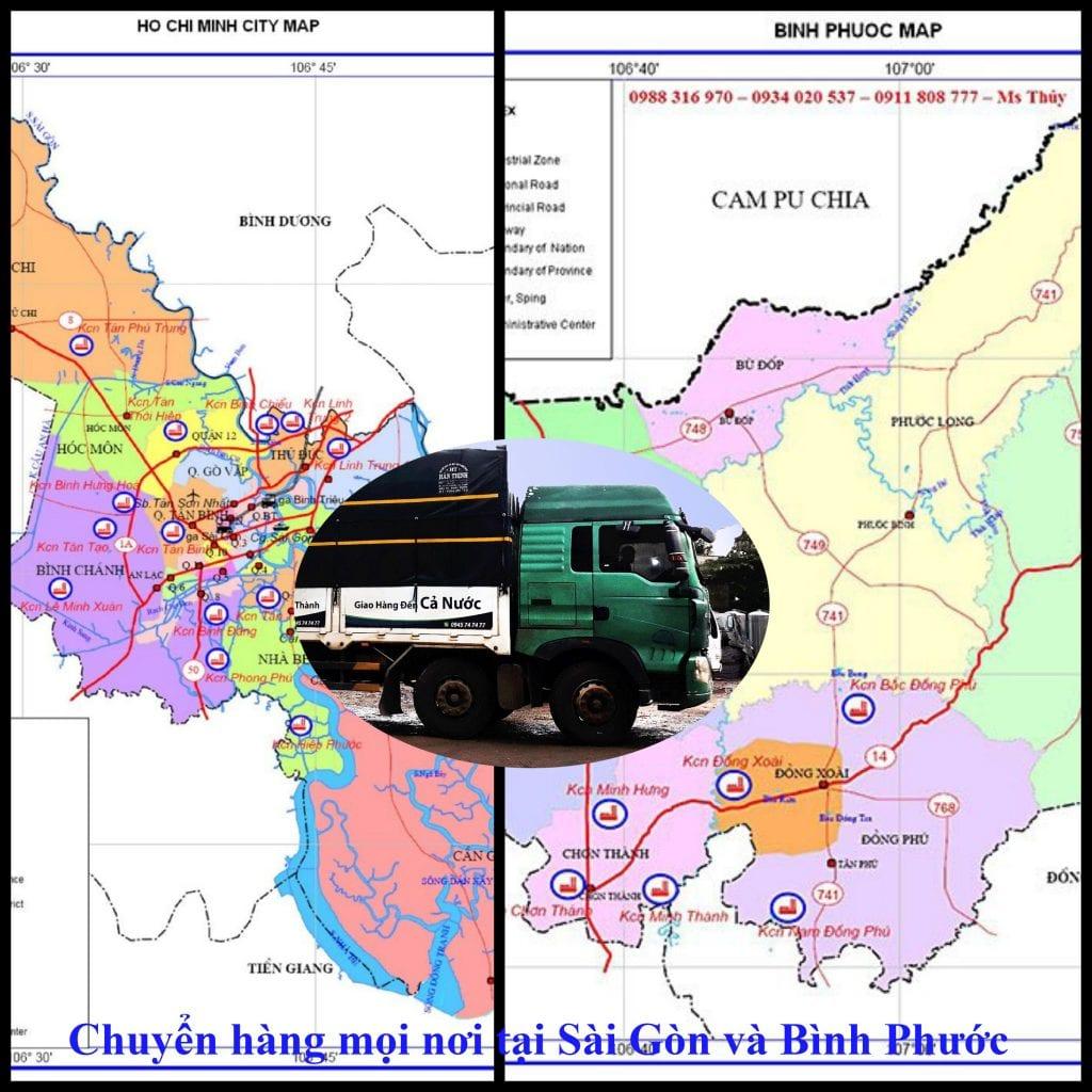 chuyển hàng mọi nơi Sài Gòn Bình Phước