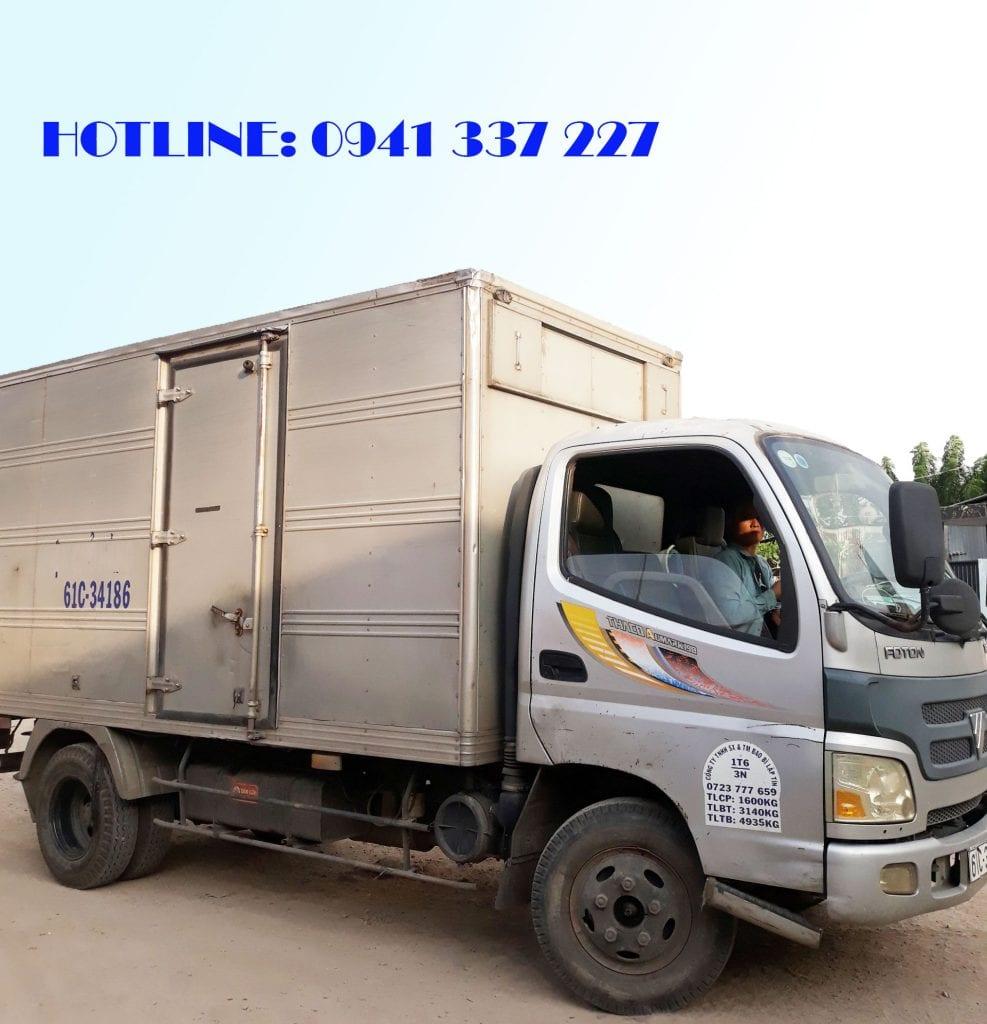 xe tải chuyển hàng Sài Gòn Bình Dương