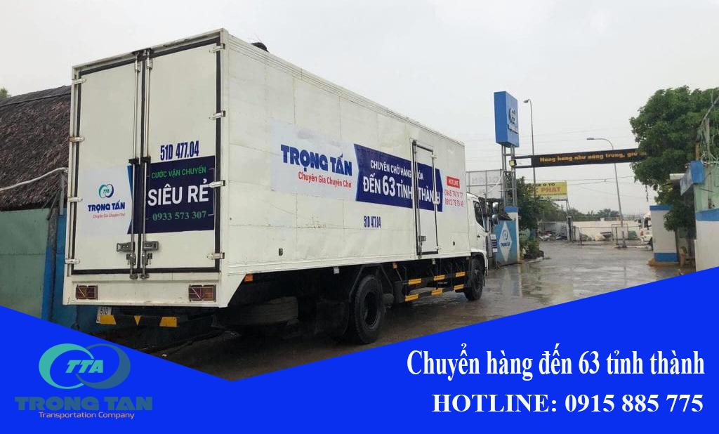 Chuyển hàng đi Cần Thơ bằng xe tải thùng kín