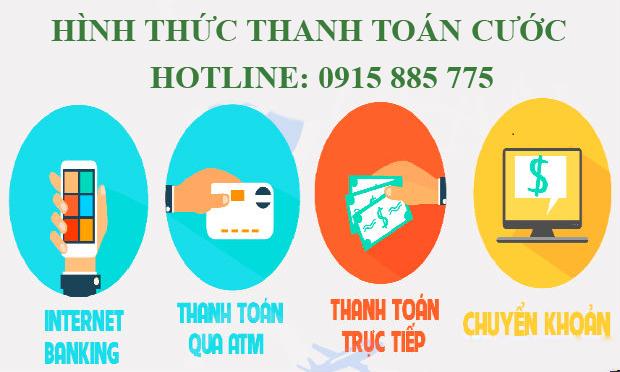 Hình thức thanh toán cước Hà Nội Sài Gòn