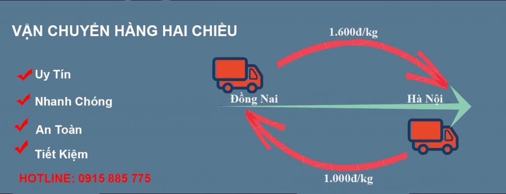 Vận chuyển hai chiều Hà Nội đi Đồng Nai