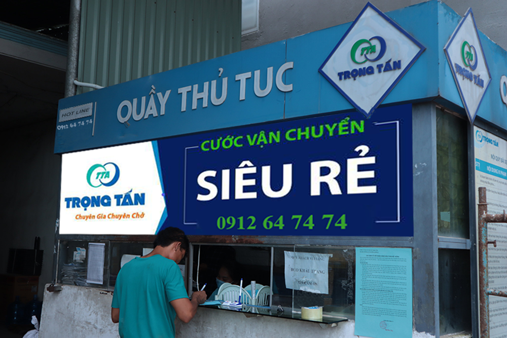 Quầy thủ tục vận chuyển hàng Nam Định TP HCM tại Nhà xe