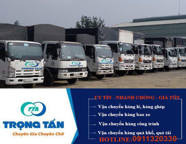 Đội xe vận chuyển hàng đi Hàm Tân