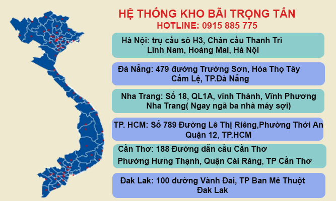 Hệ thống kho bãi của chành xe HCM Kon Tum