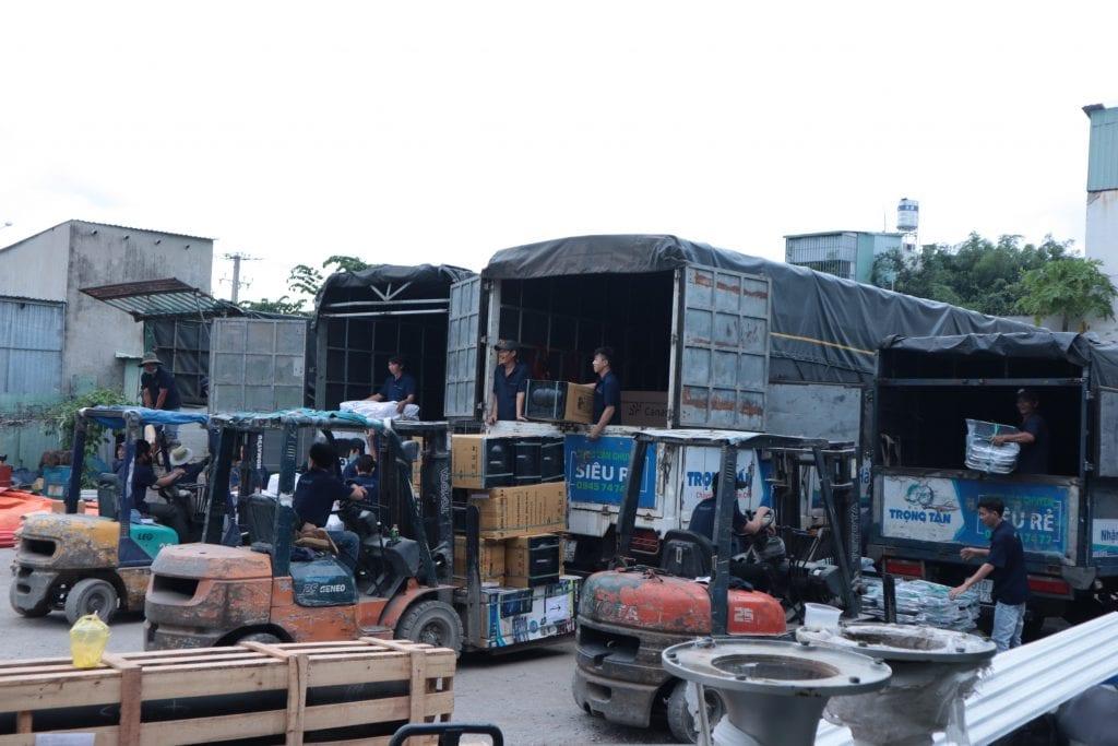 Kho hàng chành xe HCM Hậu Giang