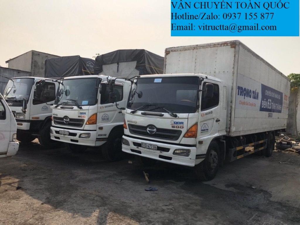 Đội xe chuyển hàng Sài Gòn đi Phú Yên