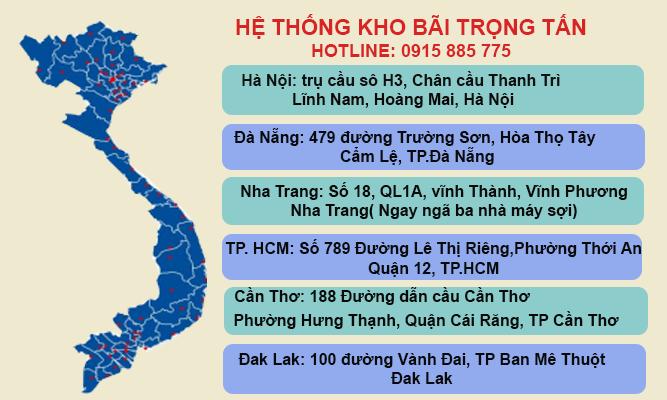 Hệ thống kho bãi của chành xe Bình Dương Kon Tum