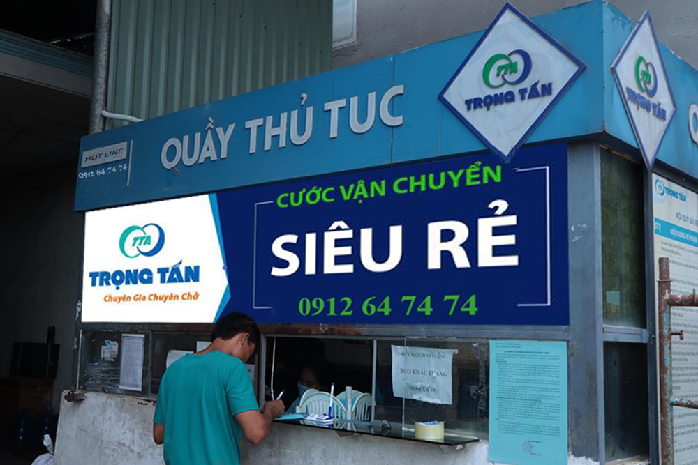 Quầy thủ tục nhà xe vận chuyển hàng hóa Hà Nội Bình Dương