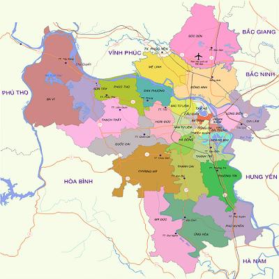 Nhận Chuyển Hàng Hà Nội Đi Tam Kỳ, các quận huyện của hà nội