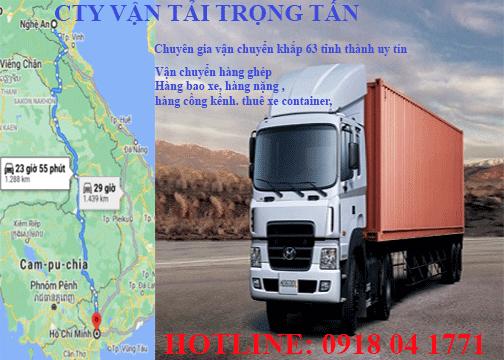 Chành xe chuyển hàng Sài Gòn đi Nghệ An