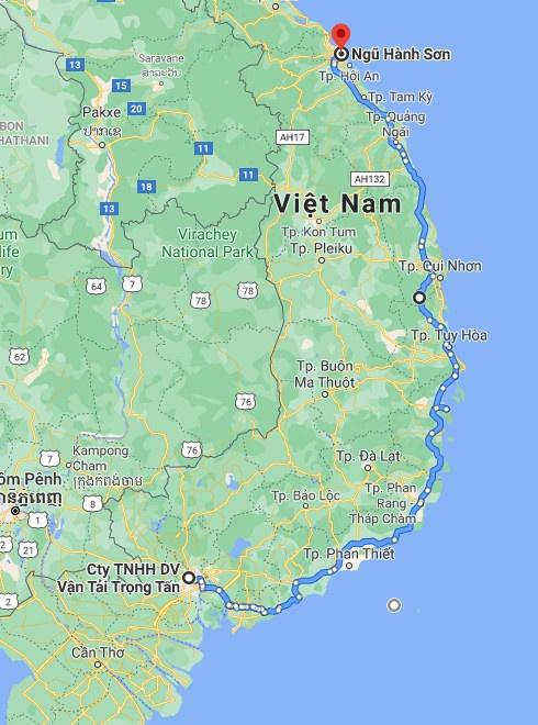 Lộ trình xuất phát từ Hồ Chí Minh đi Ngũ Hành Sơn Đà Nẵng