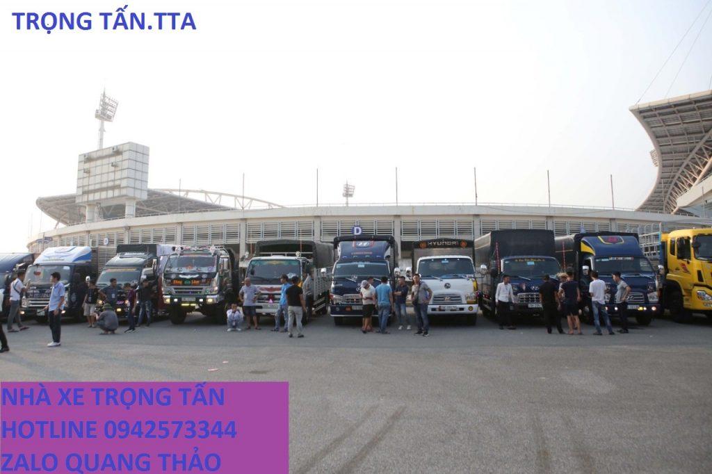Đội xe Trọng Tấn chuyển hàng Bình Dương đi Nam Định