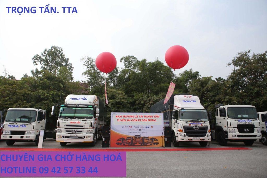 Nhà xe Trọng Tấn chuyên chở hàng Sài Gòn đi Đăk Nông