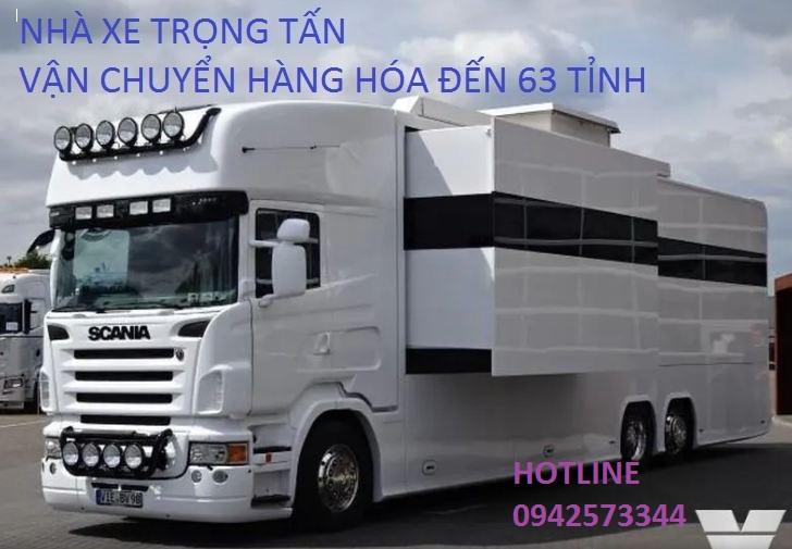 Nhà xe Trọng Tấn vận chuyển hàng hóa đến 63 tỉnh