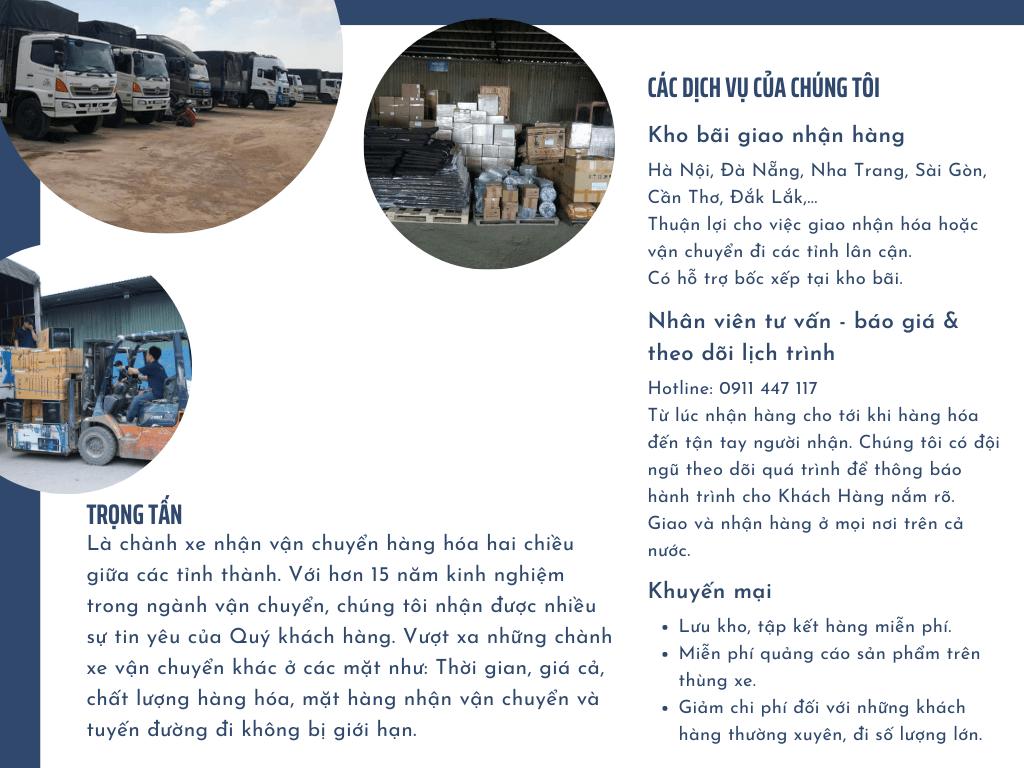 Xe tải chở hàng Quận 12 ra Hà Nội