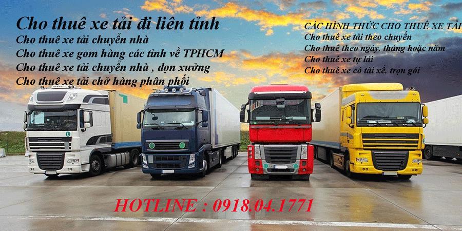 Dịch vụ cho thuê xe tải chở hàng đi Nha Trang