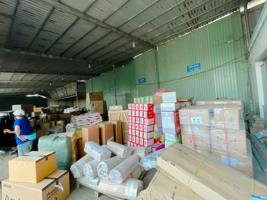kho hàng Trọng Tấn trong quá trình ghép hàng Sài Gòn Quảng Ngãi