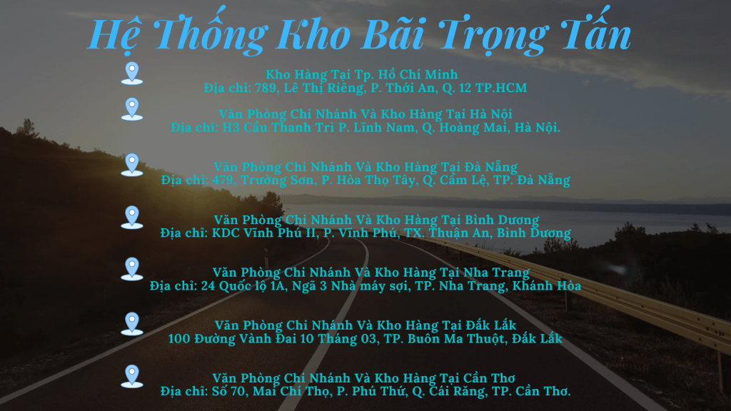 Hệ thống kho bãi Trọng Tấn chuyên ghép hàng Sài Gòn Quảng Ngãi