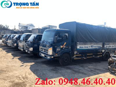 đa dạng các loại xe tải từ 140  đầ xe với nhiều loại tải trọng khác nhau