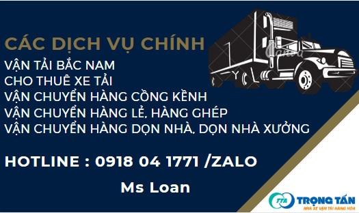Các dịch vụ chính vận chuyển hàng hóa Bắc Nam