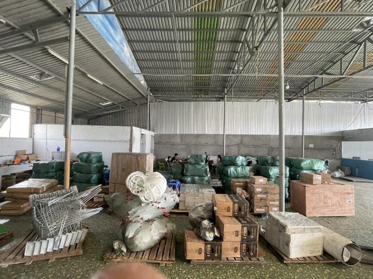 Kho hàng của cho thuê xe tải ở hà nội đi 63 tỉnh thành