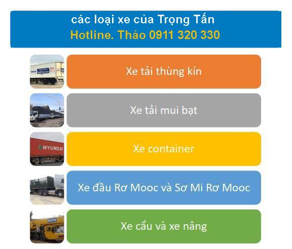 Các dòng xe cho thuê chở hàng đi Kiên Giang