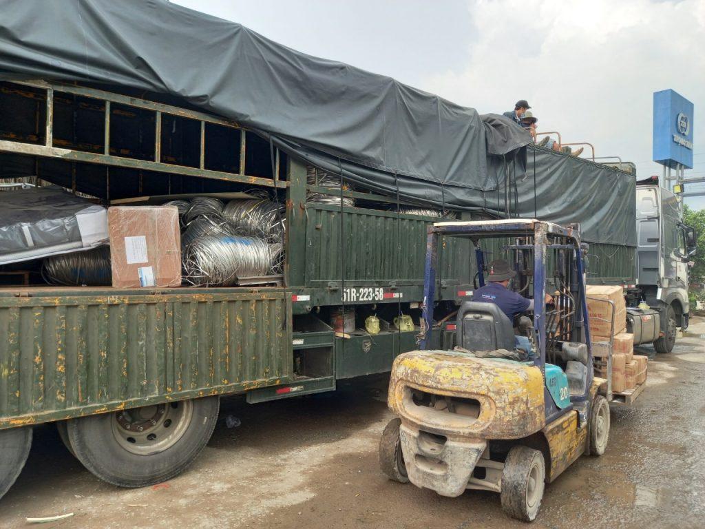 Chở Hàng Đà Nẵng Đi Sài Gòn hình thức ghép hàng theo mét xe