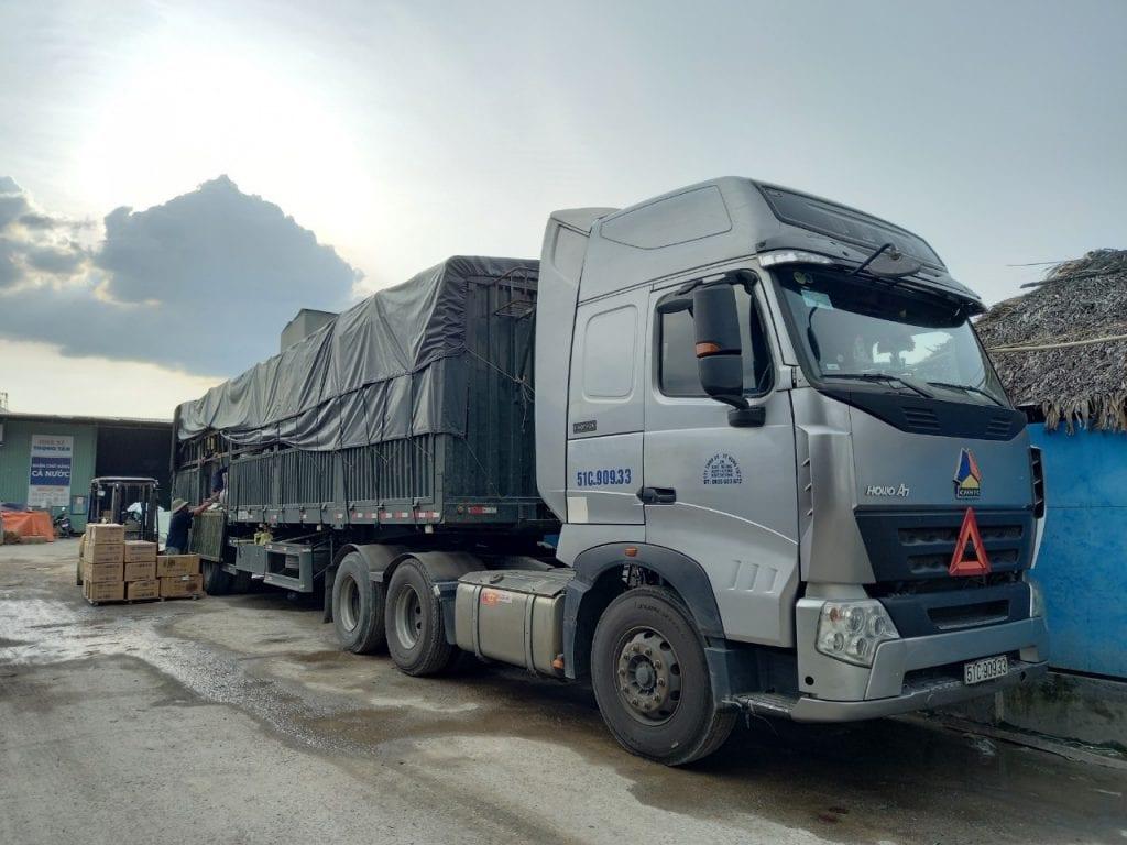 Cho thuê xe tải chở hàng Sài Gòn đi Tuyên Quang