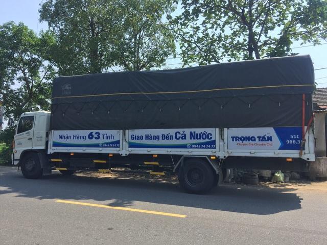 xe trọng tấn vận chuyển hàng đi nha trang