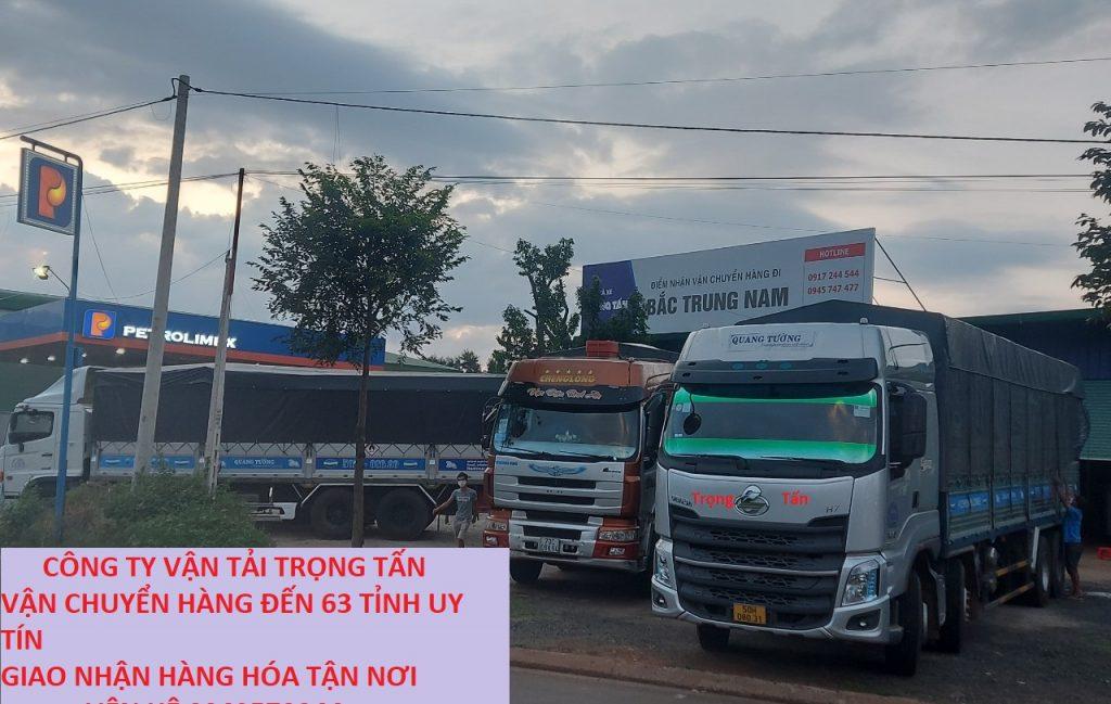 Chành xe Trọng Tấn vận chuyển hàng đến 63 tỉnh